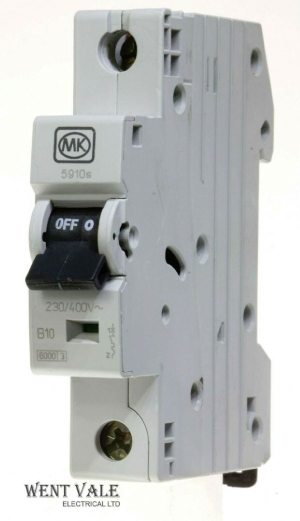 MK Sentry - 5910s - 10a Type B Single Pole MCB New